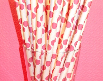 Razzle Dazzle Berry Polka Dot Straws - DIY Flag Topper   (25)