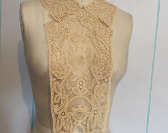 Two Vintage Edwardian Netted Lace Pieces