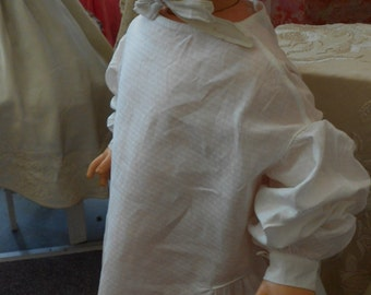 "1830's, 28"" chest, light weight textured pure cotton child's dress"
