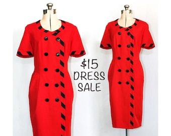 SALE - Vintage 80s Properly Aligned Alpert Nipon Dress