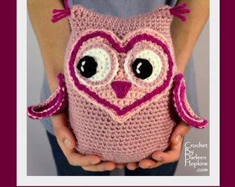 Crochet Pattern, crochet owl toy pattern, crochet owl stuffed toy pattern, crochet amigurumi pattern, baby gift INSTANT pdf DOWNLOAD
