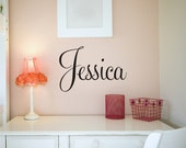 Personalized Vinyl Name Decal  - personalized wall decal - nursery - kid room decor - name sticker