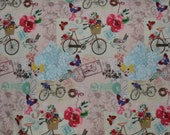 "One Yard of ""A Bike Ride in the French Countryside"" Fabric"