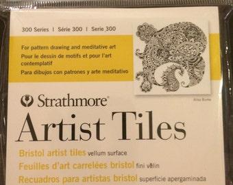 Strathmore Artist Tiles, set of 20, white    4 X 4 sq. inches Bristol vellum surface