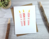 Pink Candle Birthday Card