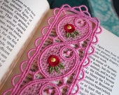 Sweet Pea Hot Pink Lace Bookmark