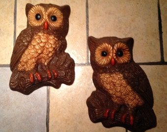 Set of Owl Plaques