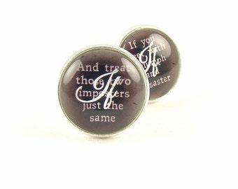Best Man Cufflinks - IF Rudyard Kipling Cuff Links -  Poetry Cuff Links - Groomsman Cufflinks - Gifts For Men - Cool Gifts For Men