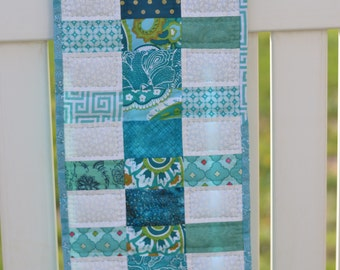 Teal Stepladder Table runner  *free shipping*
