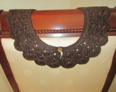 Brown Crochet Detachable Lace Collar