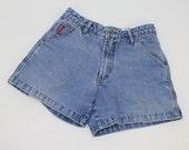 80's High Waist Jean Shorts / Union Bay / Carpenter Style / Small