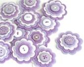ISABELLA - Handmade Felt Flower Embellishments, Flower Applique, Felt Embellishment, Felt Bloom, Felt Flower Die Cuts, Hair Clippie Flower