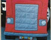 Vtg 18 Wheeler SEMI TRUCK Critter Coverlette Down On the Farm Childs Quilt Pattern 109 UNCUT