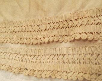 """Antique Crocheted Lace 32"""" x 1 5/8"""" SALE"""