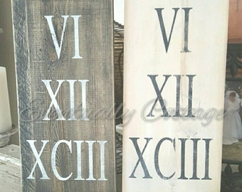 Roman numeral sign