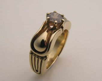 Maternity Ring Pregnancy Jewelry Nude Female Sculpture