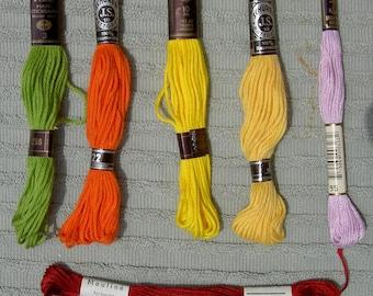 German Embroidery Floss or Yarn - One Bundle of 7 Skeins