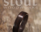 Indian Rosewood Bentwood Ring - Handcrafted Wooden Ring