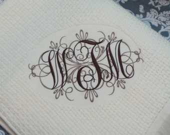 Wedding Gift Anniversary Gift Monogrammed Blanket Throw Embroidered Personalized Beautiful Gift