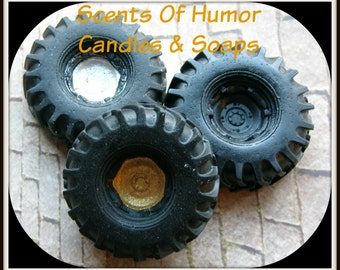 TIRE SOAP - Car Enthusiast - Decor - Gag Gift - Car - Truck - 4 Wheeler - Mechanic - Auto Repair - Mudding - Choose Your Scent & Wheel Color