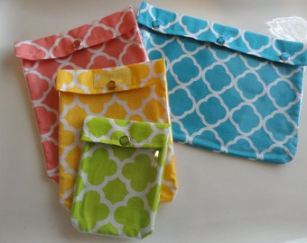CLEARANCE SALE Ouch Pouch Travel Set - All 4 Sizes 'Clear Pocket' Organizers First Aid Meds Cosmetics Diaper Bag Luggage Carry On