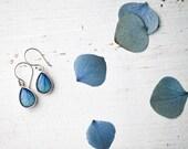 Blue drop earrings - Hydrangea - Pastel jewelry - Bloom by BeautySpot  (E141)