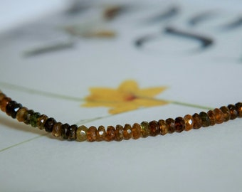 Petrol Tourmaline Faceted Rondelles (3 1/8 inches)