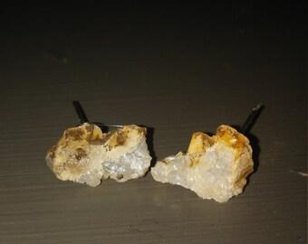 Raw Geode Earrings