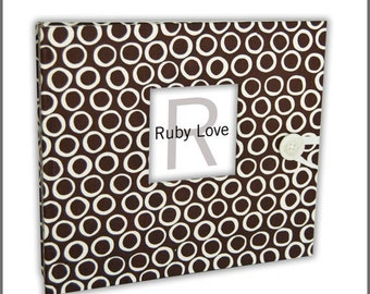 BABY BOOK | Mod Cool Chocolate Brown Dot | Ruby Love Modern Baby Memory Book
