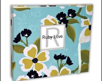 BABY BOOK   Aqua Meadows Baby Book   Ruby Love Modern Baby Memory Book
