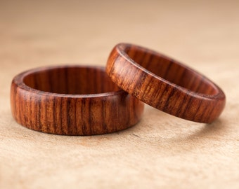 Custom Matching Mopani Wood Rings - 7mm & 5mm