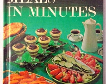 Vintage Better Homes and Gardens Meals in Minutes Creative Cooking Library cookbook