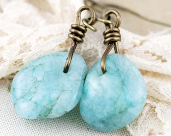 Drops of tranquility earrings - kyanite (BC)