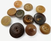 Antique Vegetable Ivory Buttons - Early 1900s Vintage Tagua Nut