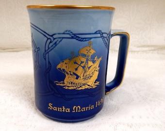 B & G Copenhagen Denmark Collector Series Mug  Santa Maria 1492 issued in 1978