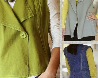 Modern Silhouette Vest # IJ986CR INDYGO JUNCTION- New Sewing Pattern