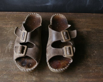 REDUCED Price Vintage Birkenstock Style Italian Made Two Strap Sandals Beautifully Distressed From Wear From Nowvintage on Etsy