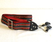 Vintage Camera Strap- Red & Yellow Woven Hippie