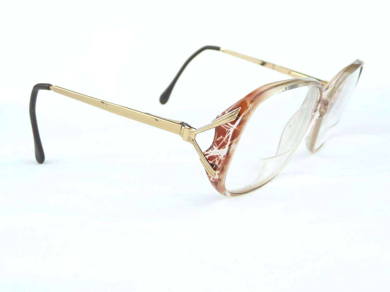 Glasses Frames Arms : Vintage Eyeglasses flex arms Vintage Eyewear plastic