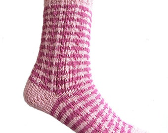 Socks Pink, striped, size EU 37/38  UK 5/5.5 US 7/7.5