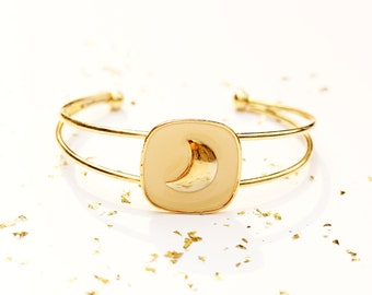 Gold Moon Cuff
