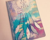 Handpainted Art Journal // 80 Lined pages // Dreamcatcher // Be-You-Ti-Full