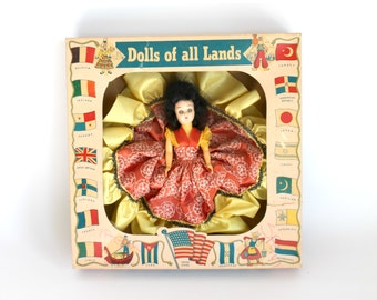 Vintage A & H Dolls of All Lands Hard Plastic Original Box