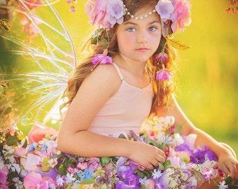 Fairy skirt only, flower fairy skirt, fairy apron/skirt only