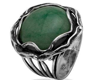 Sterling silver ring , gemstone ring , Bluenoemi ring, ring for woman, Israeli rings, Statement ring, silver rings
