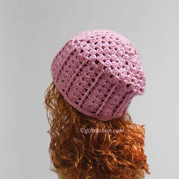 Crochet Hat Ladies Womens Spring Summer Hat Beanie Pattern