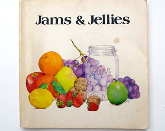 Jams and Jellies by Jacqueline Wejman 1975 Softcover, 101 Productions San Francisco, Reference CookBook Chutneys Preserves Marmalades
