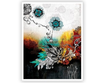 Frozen Dreams by Iveta Abolina -  Floral Illustration Print