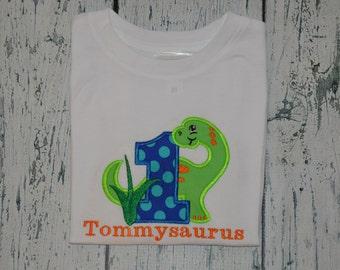 PERSONALIZED Dinosaur Birthday Shirt  Monogrammed 1, 2, 3, 4 birthday