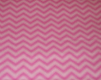 "Chevron X-Small Pink on Pink Background Cotton Fabric 1/2 Yard Cotton 45"" Wide"